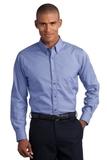 Button-down Mini-check No-iron Shirt Pacific Blue Thumbnail