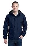 Eddie Bauer Rain Jacket River Blue with Grey Steel Thumbnail