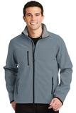 Glacier Soft Shell Jacket Atlantic Blue with Chrome Thumbnail