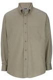 Men's Button Down Poplin Shirt LS Tan Thumbnail