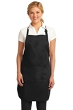 Easy Care Full-length Apron With Stain Release Black Thumbnail