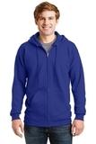 Ultimate Cotton Full-zip Hooded Sweatshirt Deep Royal Thumbnail