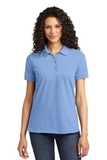 Women's 50/50 Pique Polo Light Blue Thumbnail