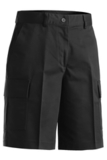 Women's Flat Front Cargo Short Black Thumbnail