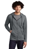 Tri-Blend Wicking Fleece Full-Zip Hooded Jacket Dark Grey Heather Thumbnail