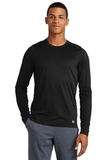 New Era Series Performance Long Sleeve Crew Tee Black Solid Thumbnail