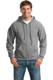 Full-zip Hooded Sweatshirt Sports Grey Thumbnail