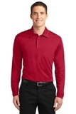 Silk Touch Performance Long Sleeve Polo Red Thumbnail