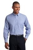 Crosshatch Easy Care Shirt Chambray Blue Thumbnail