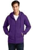 Port & Company Fan Favorite Fleece Full-Zip Hooded Sweatshirt Team Purple Thumbnail