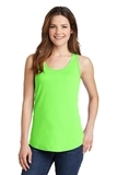 Women's 5.4 oz. 100 Cotton Tank Top Neon Green Thumbnail