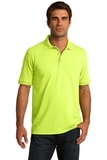 Port Company Tall 5.5-ounce Jersey Knit Polo Safety Green Thumbnail