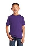 Youth 5.5-oz 100 Cotton T-shirt Team Purple Thumbnail