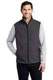 Core Soft Shell Vest Black Charcoal Heather Thumbnail