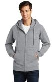 Port & Company Fan Favorite Fleece Full-Zip Hooded Sweatshirt Athletic Heather Thumbnail