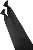 22 Clip-on Poly Tie Black Thumbnail
