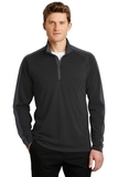 Sport-Wick Textured Colorblock 1/4-Zip Pullover Black with Iron Grey Thumbnail