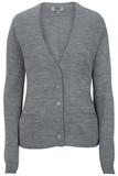 Women's Edwards V-neck Cardigan Sweater-tuff-pil Plus Grey Heather Thumbnail