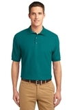 Extended Size Silk Touch Polo Shirt Teal Green Thumbnail