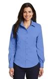 Women's Long Sleeve Non-iron Twill Shirt Ultramarine Blue Thumbnail