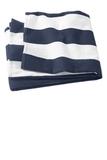 Cabana Stripe Beach Towel Navy Thumbnail