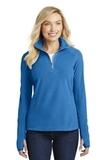 Women's Microfleece 1/2-zip Pullover Light Royal Thumbnail