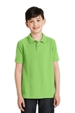 Youth Silk Touch Polo Shirt Lime Thumbnail