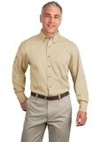Tall Long Sleeve Twill Shirt Stone Thumbnail