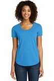 Juniors Scoop Neck Very Important Tee Heathered Bright Turquoise Thumbnail
