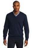 Port Authority V-neck Sweater Navy Thumbnail