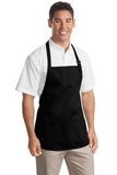Medium Length Apron With Pouch Pockets Black Thumbnail