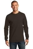 Essential Long Sleeve T-shirt Dark Chocolate Brown Thumbnail