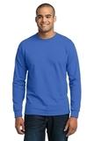 Long Sleeve 50/50 Cotton / Poly T-shirt Royal Thumbnail