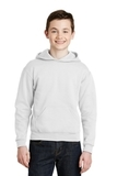 Youth Pullover Hooded Sweatshirt White Thumbnail