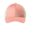 Low-Profile Snapback Trucker Cap Soft Coral with Ecru Thumbnail