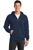 7.8-oz Full-zip Hooded Sweatshirt Navy Thumbnail