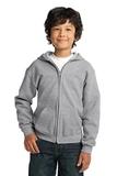 Youth Heavy Blend Full-zip Hooded Sweatshirt Sport Grey Thumbnail