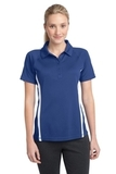 Women's Micro-mesh Colorblock Polo True Royal with White Thumbnail