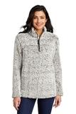 Ladies Cozy 1/4-Zip Fleece Grey Heather Thumbnail