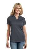 Women's Diamond Jacquard Polo Graphite Thumbnail