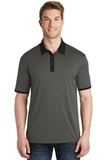 Heather Contender Contrast Polo Graphite Heather with Black Thumbnail