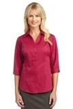 Women's 3/4-sleeve Blouse Raspberry Pink Thumbnail