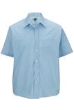 Men's Value Broadcloth Shirt SS Blue Thumbnail