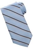 Men's Striped Pattern Tie Blue Thumbnail