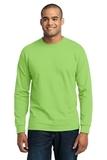 Long Sleeve 50/50 Cotton / Poly T-shirt Lime Thumbnail