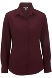 Women's Batiste Cafe Shirt Burgundy Thumbnail