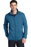Sweater Fleece Jacket Medium Blue Heather Thumbnail