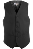 Men's Poly / Wool High Button Vest Charcoal Thumbnail