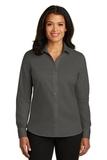 Women's Red House NonIron Twill Shirt Grey Steel Thumbnail