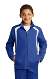 Youth Colorblock Raglan Jacket True Royal with White Thumbnail
